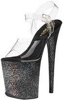 Pleaser USA Women's FLAM808MG/C/B Platform Dress Sandal