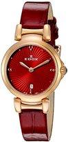 Edox Women's 57002 37RC ROUIR LaPassion Analog Display Swiss Quartz Red Watch