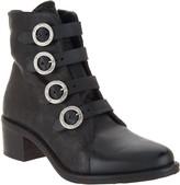 Miz Mooz Leather Buckle Ankle Boots - Fawn