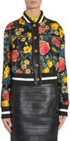 Fausto Puglisi Floral Print Bomber Jacket