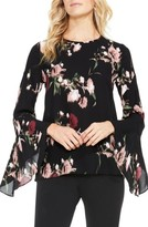 Vince Camuto Women's Windswept Bouquet Bell Sleeve Blouse