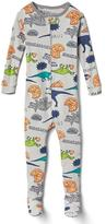 Dino pizza party footed sleep one-piece