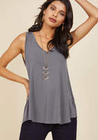 ModCloth Endless Possibilities Tank Top in Grey in 1X