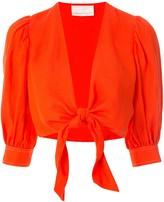 Ginger & Smart Memoir cropped blouse