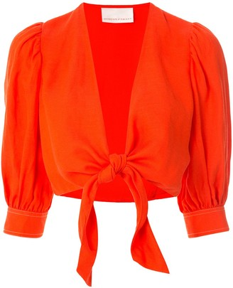 Ginger & Smart Memoir cropped blouse