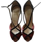 Christian Louboutin Tricoloured high sandals.