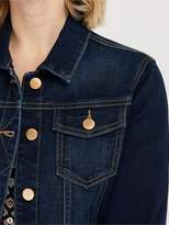 Monsoon Daria Organic Cotton Denim Jacket - Indigo