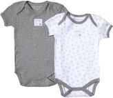 Burt's Bees Baby 2 Pack Essentials Bodysuits (Baby)-Gray-0-3 Months