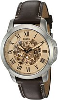 Fossil Men's ME3122 Grant Chronograph Dark Leather Watch