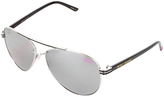 Betsey Johnson Black & Silver Aviator Sunglasses