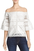 Lucy Paris Lace Off-the-Shoulder Blouse