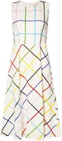 Mary Katrantzou Osmond grid print dress - women - Silk/Spandex/Elastane/Viscose - 8