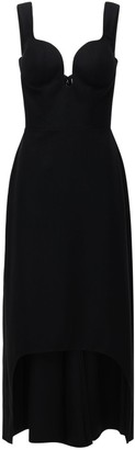 Alexander McQueen Oxbridge Wool Flannel Asymmetric Dress