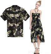 Hawaii Hangover Couple Matching Hawaiian Luau Party Outfit Set Shirt Dress in Men XL Women XL