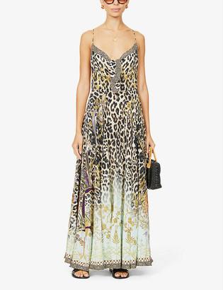 Camilla Animal-print silk-crepe maxi dress