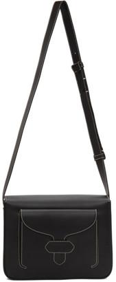 Maison Margiela Black Leather Stitch Messenger Bag