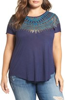 Lucky Brand Wing Graphic Tee (Plus Size)