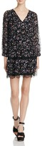 Joie Auggie Lace Trimmed Floral Silk Dress