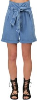 Temperley London High Waist Cotton Denim Shorts