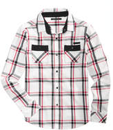 Sean John Double Side Plaid Shirt, Big Boys