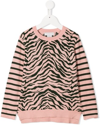 Stella McCartney Knitted Zebra Top