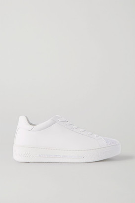 Rene Caovilla Crystal-embellished Leather Sneakers - White
