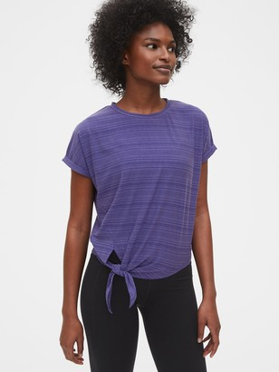 Gap GapFit Ribbed Dolman Tie-Front T-Shirt