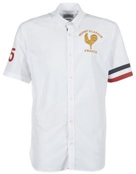 Serge Blanco FRANCE men's Short sleeved Shirt in White