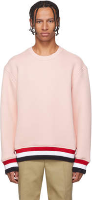 Thom Browne Pink RWB Trim Oversized Sweatshirt