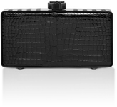 "Bougeotte Titanium ""Best Secret Keeper"" Clutch in Black Crocodile"