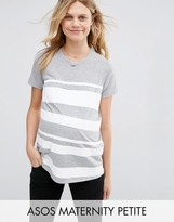 Asos PETITE T-Shirt in Block Print Stripe