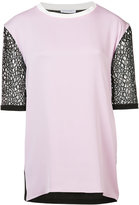 Vionnet contrast sleeve blouse