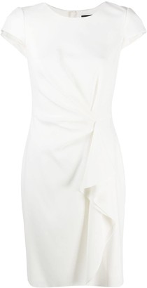 Paule Ka Draped Side Fitted Dress