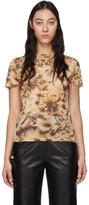 Nanushka Brown Mesh Tie-Dye Guy T-Shirt
