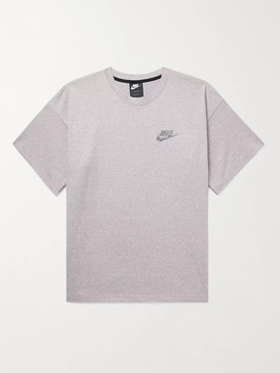 Nike Sportswear Logo-Print Melange Cotton-Jersey T-Shirt - Men - Purple