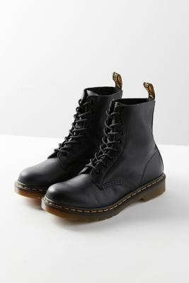 Dr. Martens Virginia 8-Eyelet Boots - Black UK 3 at Urban Outfitters
