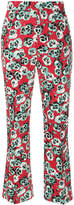 Marni Poetry flower cropped trousers