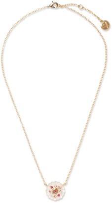 Vince Camuto Embellished Pink Flower Necklace