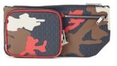 HUGO BOSS - Camouflage Print Belt Bag With Monogram Detailing - Patterned