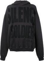 Haider Ackermann 'Silence is Golden' hoodie - women - Cotton - M
