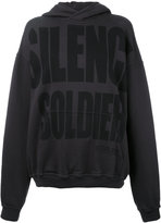 Haider Ackermann 'Silence is Golden' hoodie - women - Cotton - XS