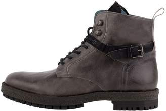 Perks Grey Buckle Boots