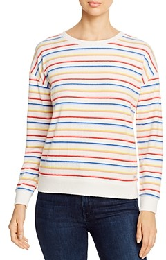 Andrew Marc Striped Brushed-Knit Sweater