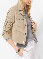 Michael Kors Cropped Suede Jacket