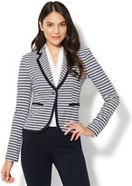 New York & Co. 7th Avenue Jacket - One-Button - Stripe - Tall