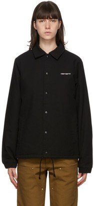 Carhartt Work In Progress Black Canvas Coach Jacket