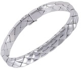 Chanel Matelasse 18K White Gold Bracelet