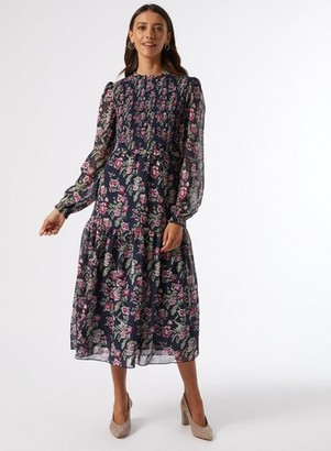 Dorothy Perkins Womens Multi Colour Floral Print Skater Dress