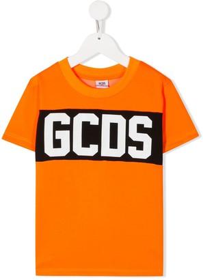 Gcds Kids Band Logo print T-shirt