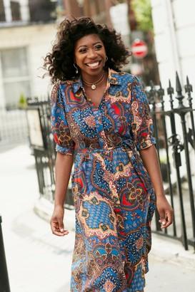 Wallis Blue Paisley Print Shirt Dress